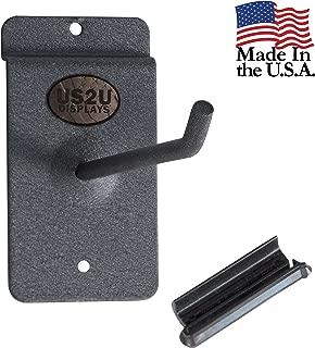 US2U Displays Heavy Duty Utility Hook Hanger for 3 inch Slatwall Rail to Hang Heavy Duty Garage and Household Items – 6 inch Stem - USS04-6-3SW