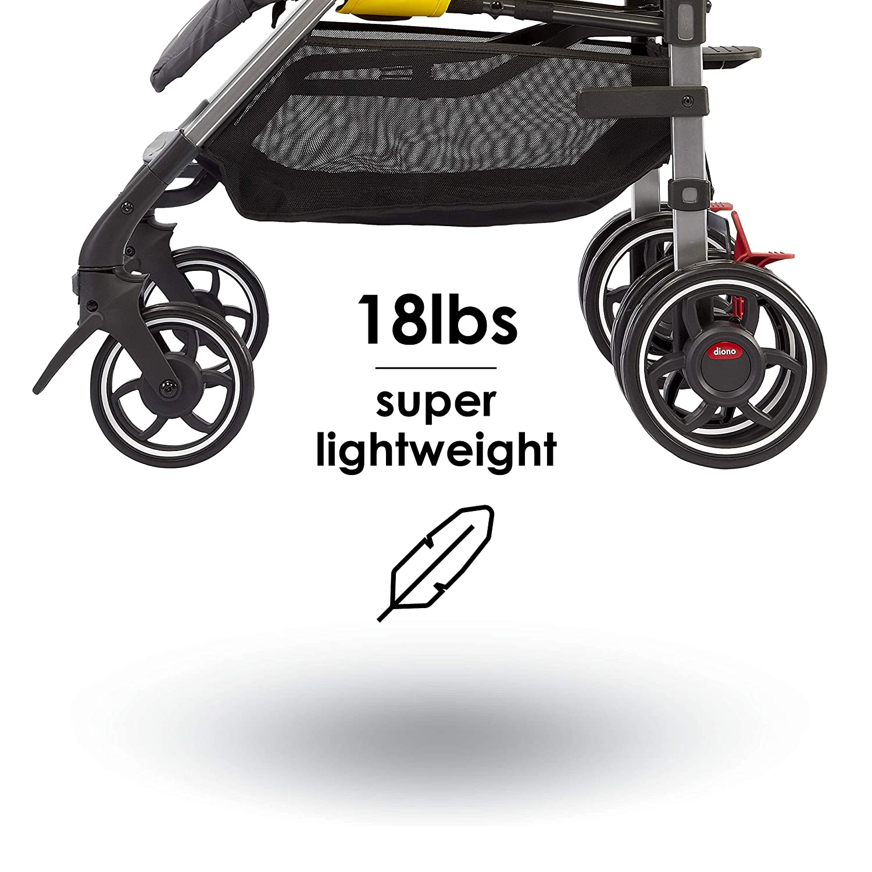 Diono Flexa - City Ready Umbrella Stroller, Black Midnight