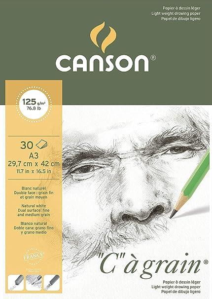 180g // M2 30 Sheets A5 Sketchbook Lightly Grain Dessin A Grain Glued Clai...