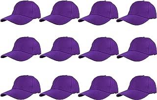 Plain Blank Baseball Caps Adjustable Back Strap Wholesale LOT 12 PC'S