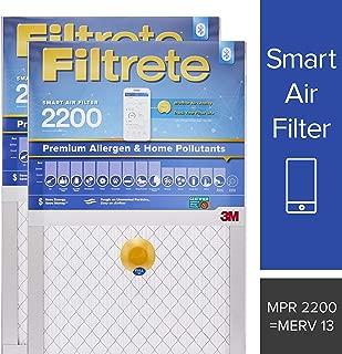 Filtrete 20x25x1 Smart Air Filter, MPR 2200, Premium Allergen & Home Pollutants AC Furnace Air Filter, 2-Pack - S-EA03-2PK-6E