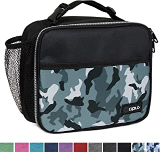 OPUX Premium Insulated Lunch Bag for Adults Men Women | Soft Leakproof Lunch Box for Kids, Boys, Girls| Reusable Durable Thermal Lunch Pail for School Work Office | Fit 6 Cans (Camo Green)