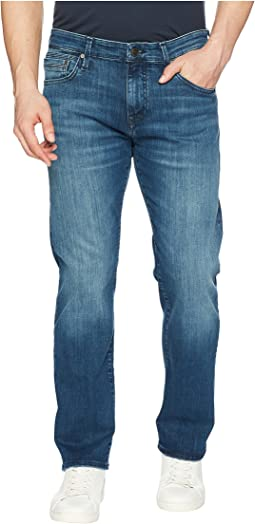 Mavi Jeans Zach Regular Rise Straight Leg in Mid Tonal Williamsburg