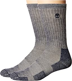Timberland - Heavy Weight Wool Crew 2-Pack Socks