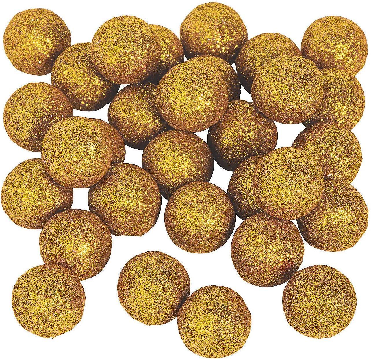 Gold Glitter Ball Vase Fresno Mall Filler - Party Pieces Decor Philadelphia Mall 40