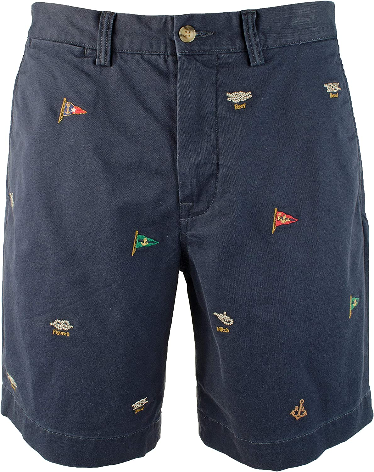97cd59f1ce Polo Polo Polo Ralph Lauren Men's Embroidered Stretch Classic Fit Shorts (36)  fd6643