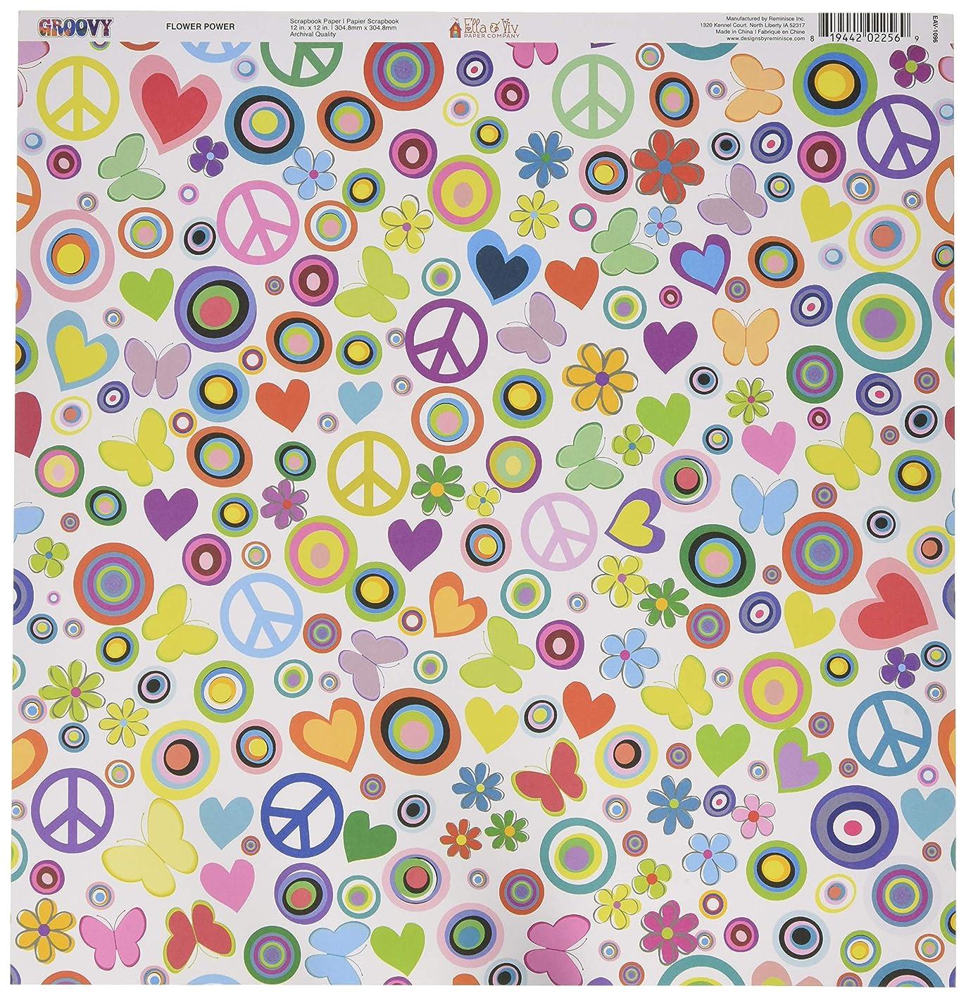 Reminisce Flower Power Ella & Viv Groovy Single-Sided Cardstock 12