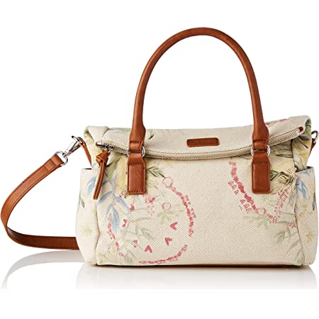 Desigual Womens Fabric Hand Bag, White, U