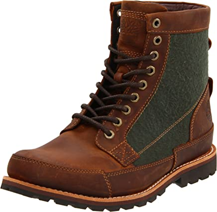Timberland Men's Earthkeeper Warm Lined Boot,Red Brown,9 W US