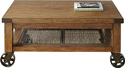 Steve Silver Company Hailee Table, Disteressed Oak Finish