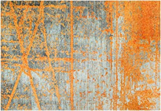 Wash&Dry Doormat, Acrylic, Orange, 140 x 200 x 0.9 cm