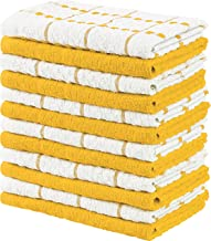 Utopia Towels Kitchen Towels, 15 x 25 Inches, 100% Ring Spun Cotton Super Soft and Absorbent Yellow Dish Towels, Tea Towel...