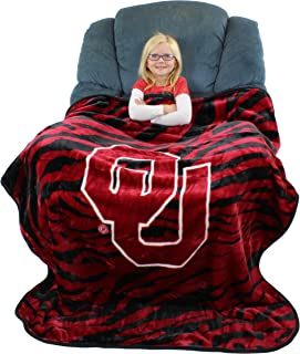 College Covers Oklahoma Sooners Raschel Throw Blanket, 50