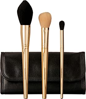 bareMinerals Brush Hour Collection by bareMinerals for Women - 4 Pc Set Seamless Shaping and Finish Brush, Dual-Finish Blush and Contour Brush, The Blender Brush, Trousse, 4 count