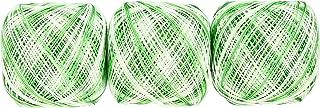 オリムパス製絲 金票 ボカシ レース糸 #40 Col.68 グリーン 系 10g 約89m 3玉セット