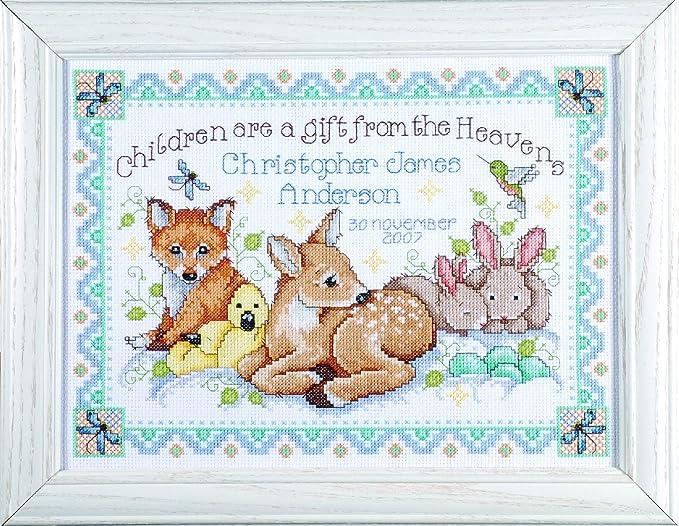 Woodland Baby Quilt Cross Stitch Kit