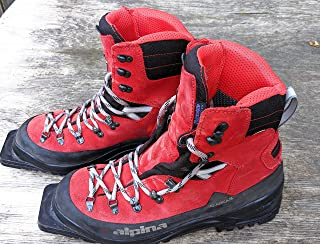 Alpina Sports Alaska 75 Leather 3 Pin 75 mm Backcountry Cross Country Nordic Ski Boots, Euro 38, Red/Black