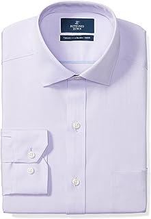 Marca Amazon - BUTTONED DOWN – Camisa de vestir de tejido pinpoint de corte ligeramente entallado con cuello abierto de al...