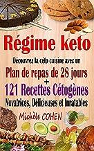 Régime keto: Découvrez la céto cuisine avec un plan de repas de 28 jours + 121 recettes cétogènes novatrices, délicieuses ...