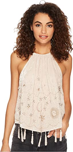 Free People - Midnight Magic Embellished Tank Top