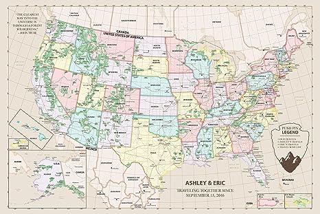 Us Map Mounted On Cork Board Amazon.com: Push Pin Maps United States Map on Cork Board