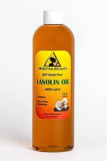 Lanolin Oil USP Grade 100% Pure Skin and Hair Moisturizing 24 oz