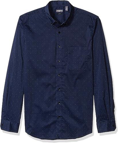 Van Heusen Hommes's Big Tall Slim Flex Stretch Non Iron Shirt, Royal Navy Minidot, 5X-grand Tall Slim