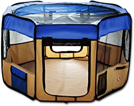 """ESK COLLECTION Blue 45"""" Pet Puppy Dog Playpen Exercise Pen Kennel 600d Oxford Cloth"""