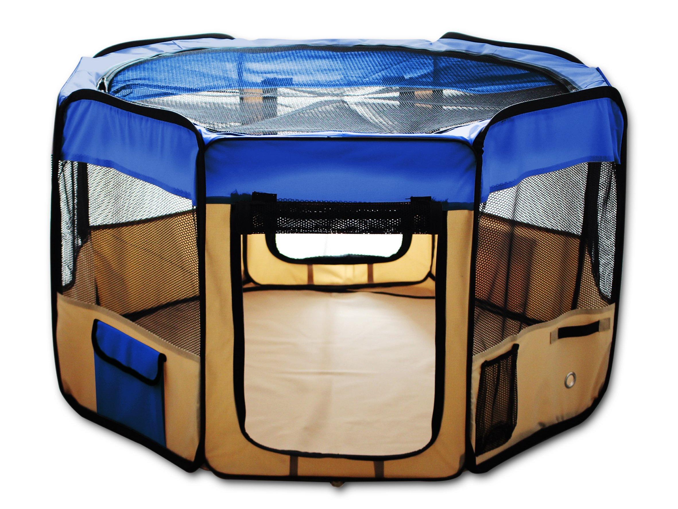 ESK Collection ESK48 Blue Exercise Kennel