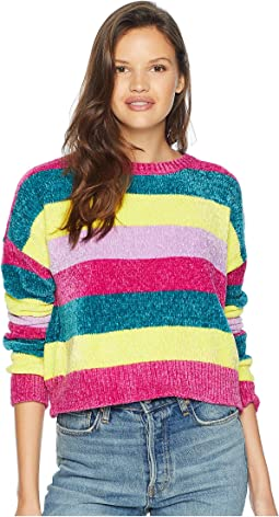 Multicolor Stripe Knit Sweater