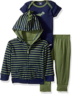 Baby Boys' 3-Piece Hooded Jacket, Bodysuit and Pant Set