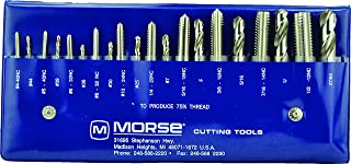 Morse Cutting Tools 37103 Tap and Drill Set, NC Series, High Speed Steel, 103 Number