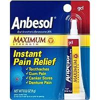 Anbesol Gel Maximum Strength Instant Oral Pain Relief 0.33oz Deals