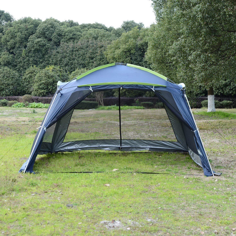 Outsunny Carpa Tipo Avancé Plegable para Camping Azul Oscuro Tela Oxford 210D 360x355x215 cm: Amazon.es: Jardín