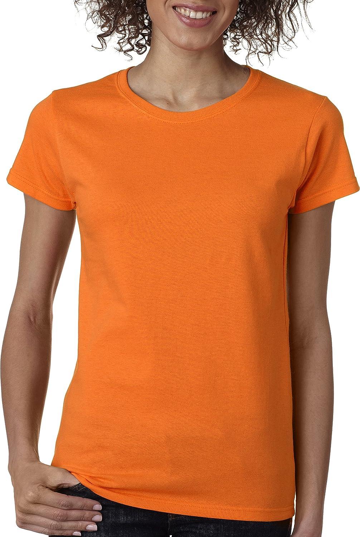 Gildan Heavy CottonTM Ladies' 5.3 oz. Missy Fit TShirt, Safety orange