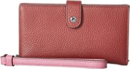 COACH - Phone Wristlet in Color Block Leather