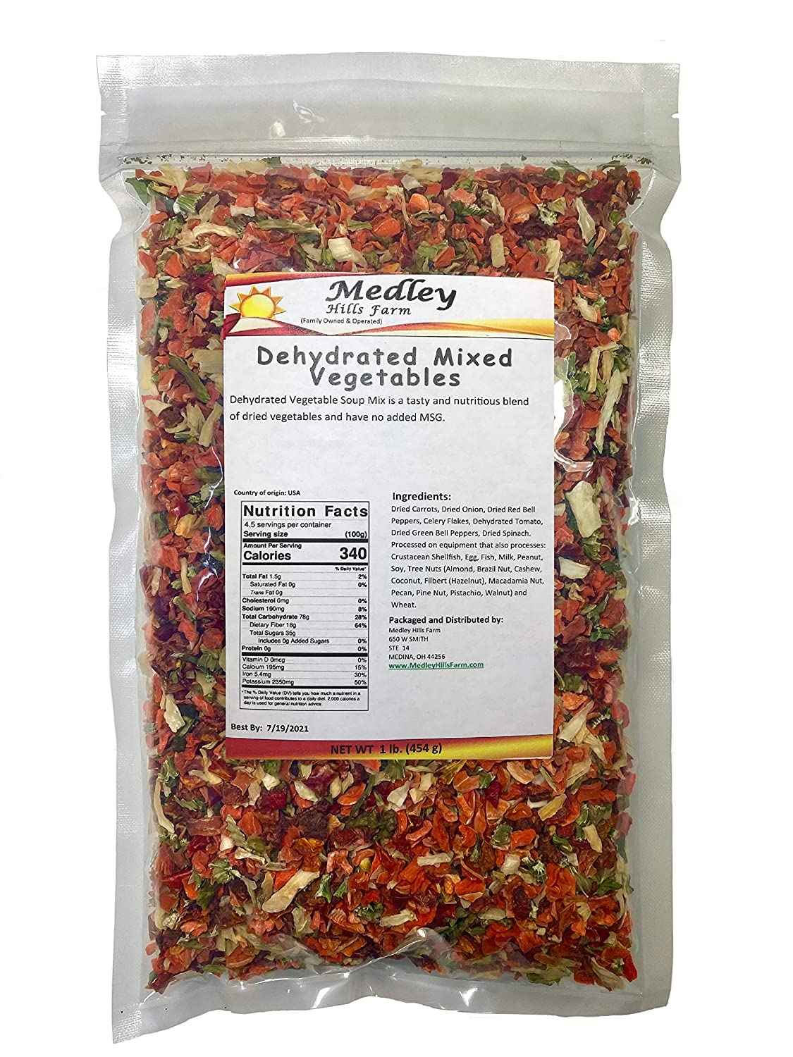 Dehydrated Mixed Vegetables Medley Hills All Soup Virginia Beach Mall G Natural farm Special price