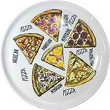 Juego de 4Unidades Pizza Platos Desayuno Porcelana auténtica. Diámetro 300mm con interessantem Pizza de variedades Decorativo de