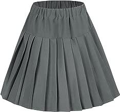 Urban CoCo Women's Elastic Waist Tartan Pleated School Skirt