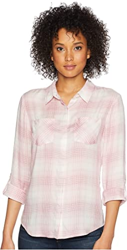 Plaid Roll Sleeve Soft Shirt