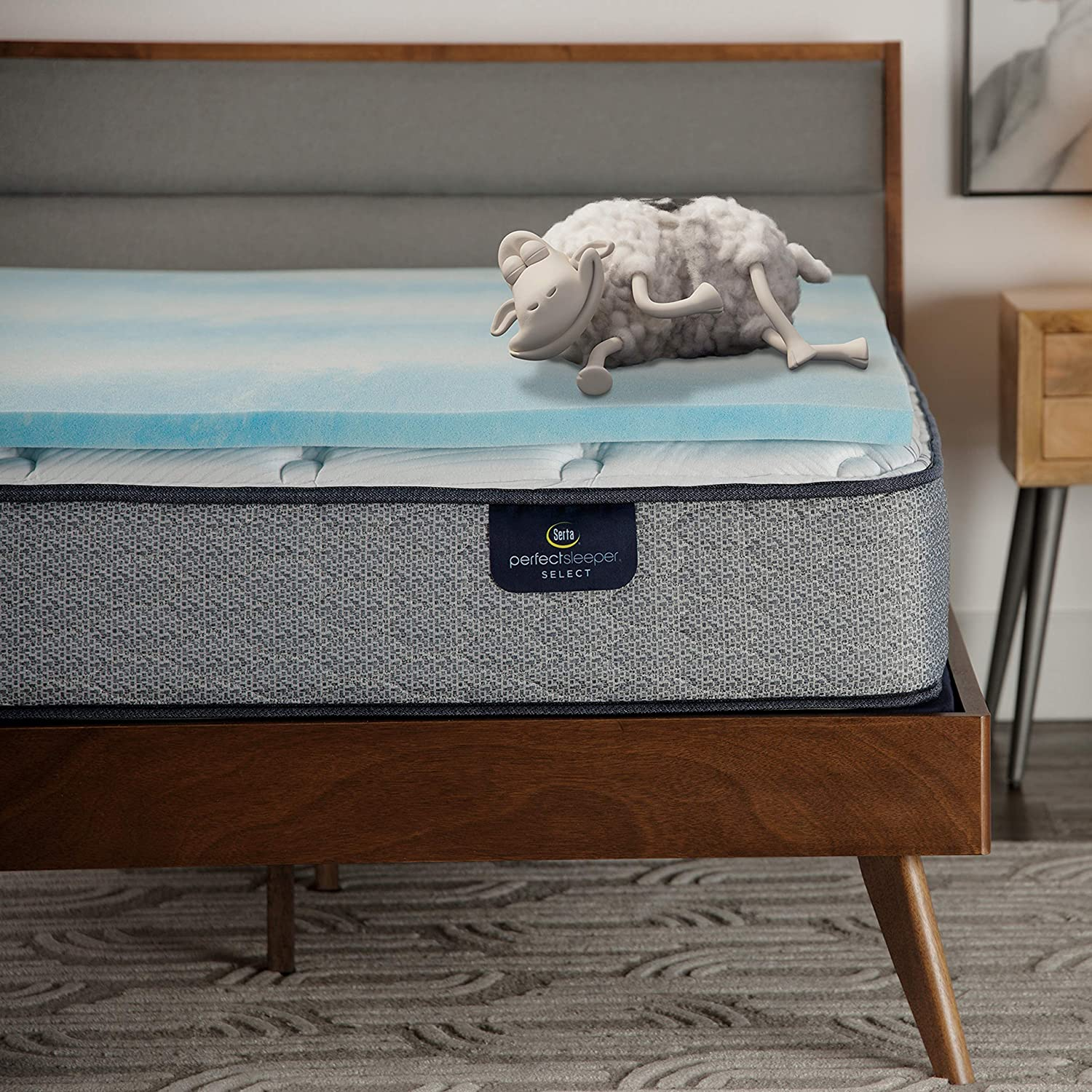Serta Comfort Cool 1.5-in Gel Mattress Foam Large special price !! Product Memory Topper Queen
