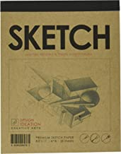Premium Paper Sketch Pad for Pencil, Ink, Marker, Charcoal and Watercolor Paints. Great for Art, Design and Education. (Jumbo 8.5