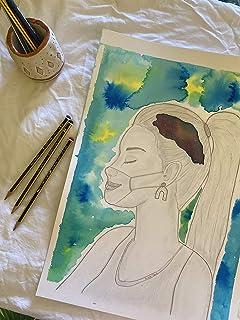 Galaxy Girl/Ilustración Original A3 / Acuarela líquida Royal Talens Sobre papel Canson/Pinceles Royal Talens