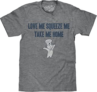 Tee Luv Pillsbury Doughboy T-Shirt - Love Me Squeeze Me Take Me Home Graphic Tee
