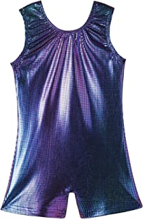 QoozZ Sparkle Gymnastics Biketard for Girls Colorful Leotards Unitard