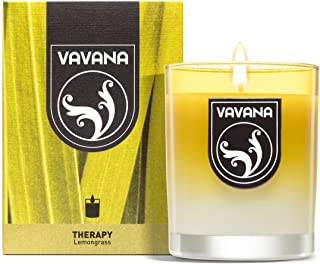 Vavana Aromatherapy Candles | Premium Scented Candles | Each Candle Set is Crafted with Perfection - Candle Jars, Hand Poured with Non-Toxic Mineral Wax & Cotton Wick (Lemongrass)