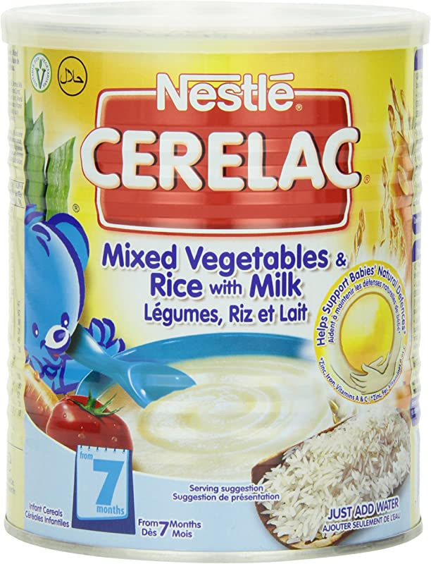 Nestle Cerelac Mixed Vegetables Rice W Milk Stage 2 400g