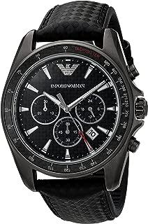 Men's AR6122 Sport Black Leather Quartz Watch