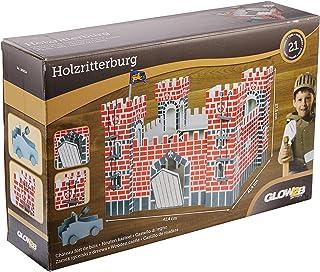comprar comparacion Glow2B Alemania 1000524–Castillo De Madera, Incluye Dos Escaleras, una Bandera, una Piedra Centrifugado, 21Piezas