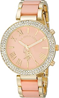 U.S. Polo Assn. Women's Pink Dial Alloy Band Watch - USC40063